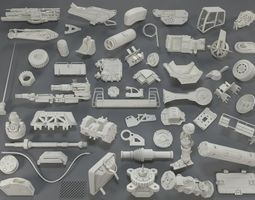3D model Kit bash - 55 pieces - collection-18