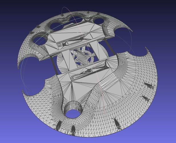 predator smart disk weapon 3d model obj mtl 3ds stl sldprt sldasm slddrw 1