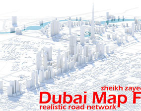 Dubai Skyline - sheikh zayed road 3D model