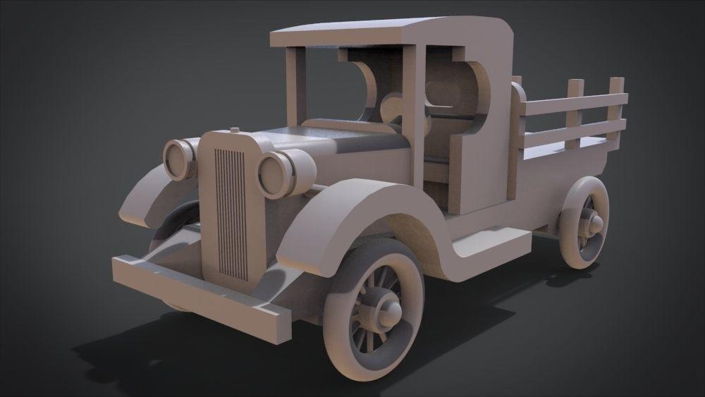 1920s TT Wood Toy Truck