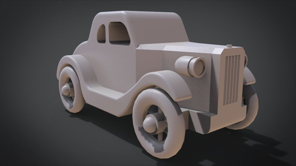 1935 Five-Window Coupe Toy Car | 3D Print Model