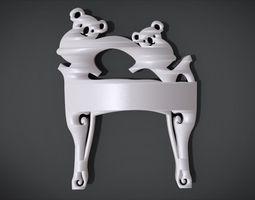 3D print model Unique Chair Legs Ornament with Koala 1