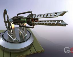 tesla cannon 3d