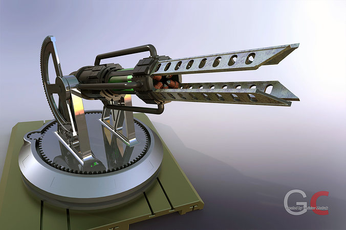 tesla cannon 3d model stl ige igs iges 1