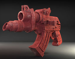 3d print model stylized handgun