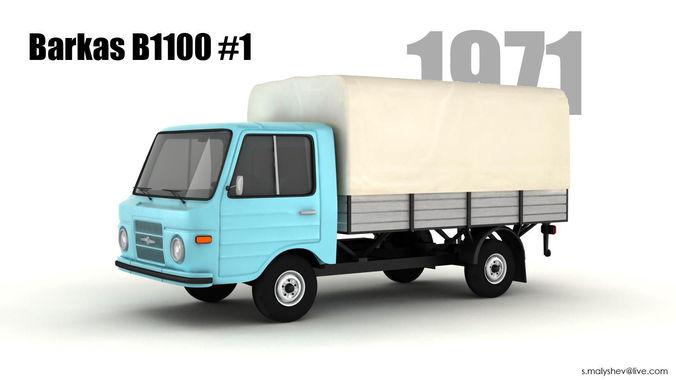 barkas b1100  3d model max 1