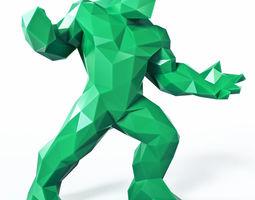 hulk low poly 3d printable model