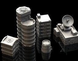 Wargaming Terrain - 5 3D Printable Buildings