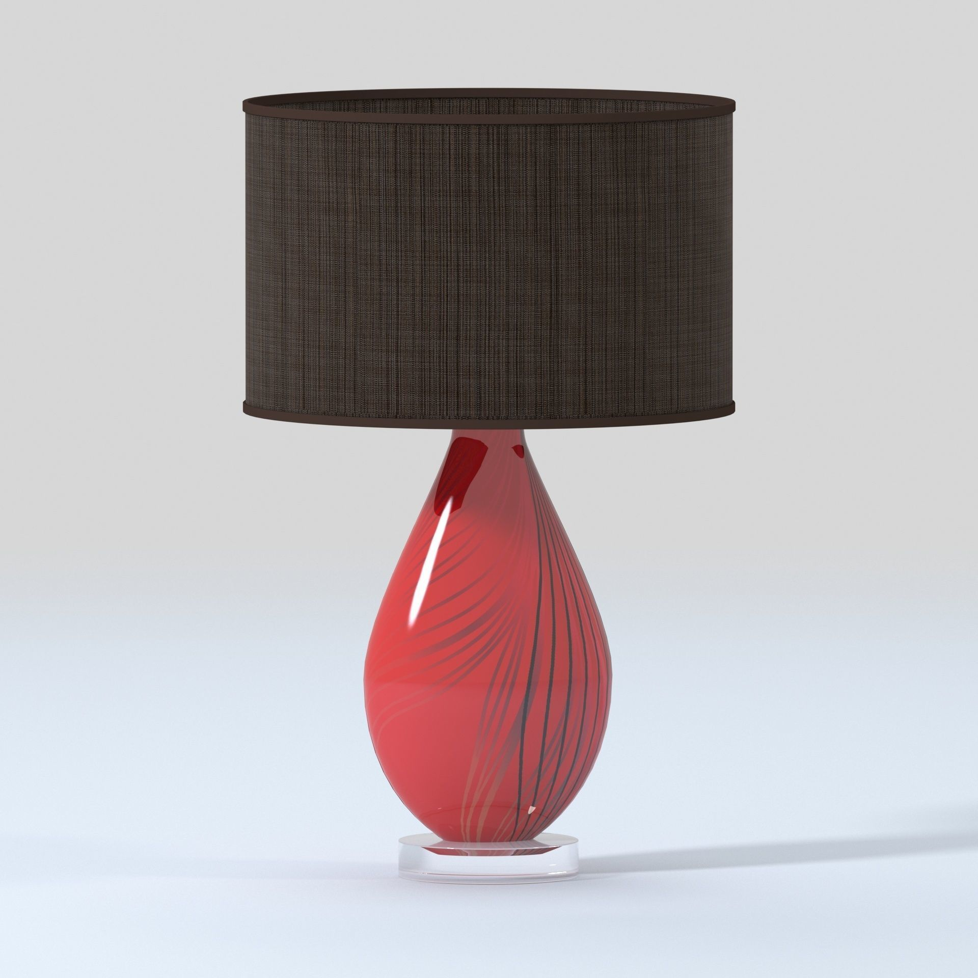 3d Model Vintage Red Glass Table Lamps Cgtrader