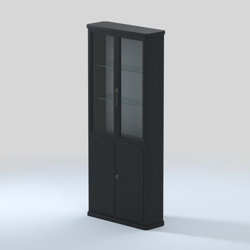 ... Vintage Bar Cabinet With Glass Shelves And Wallpapered Interior 3d  Model Max Obj Mtl Fbx 5 ...