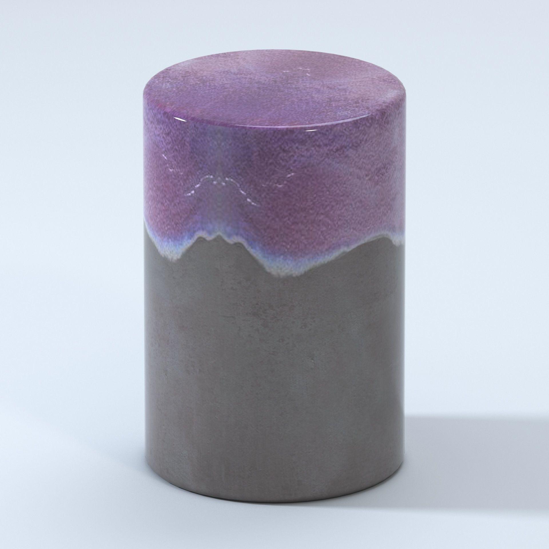 Outstanding Garden Ceramic Stool Two Tone Glaze 3D Model Gamerscity Chair Design For Home Gamerscityorg