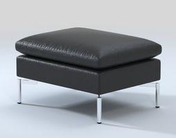 3d bludot new standard leather ottoman