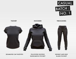 3D model Casual Clothing Batch 1