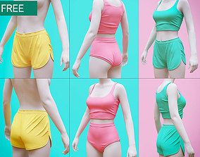 3D model Shorts and Undergarment