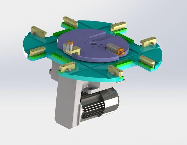 The dividing plate mechanism | 3D model