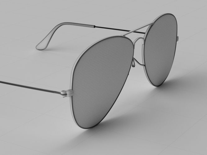bf8ed8bba2 ray-ban aviator sunglasses 3d model 3d model obj mtl 3ds fbx c4d dae 15