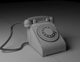 electronic 3D Old Phone
