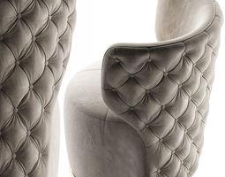 Buttoned Swivel Chair 3D model