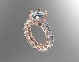 3D printable model Full Diamond ring NN071