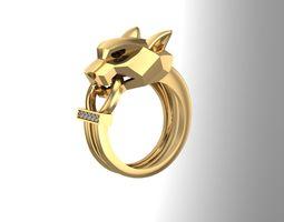 3D printable model Panther ring NN074