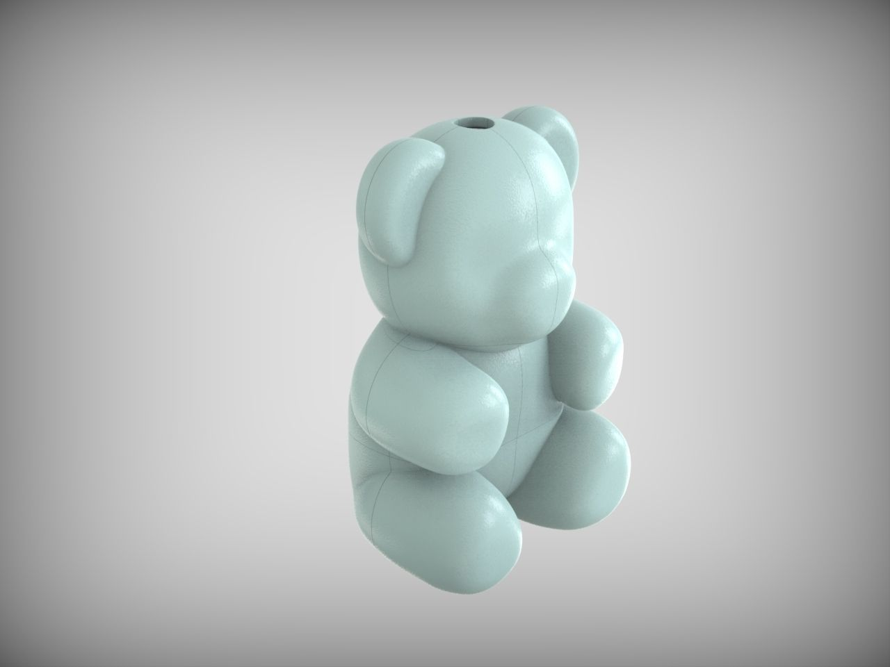 Form for making a Bear of foam
