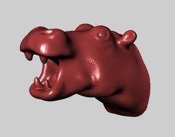 hippopotamus head 3D print model