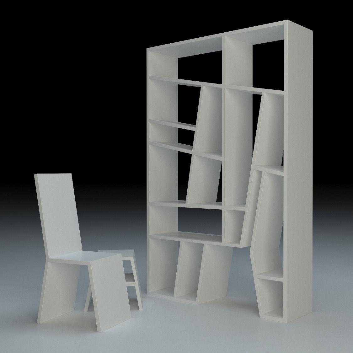 Creative Shelf Creative Shelf 3d Model Max 3ds Fbx