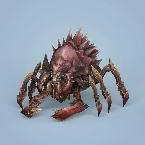 fantasy monster spider 3d model low-poly max obj mtl fbx c4d ma mb 1