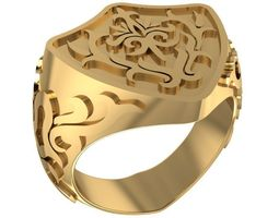 3D printable model Shield shaped male ring