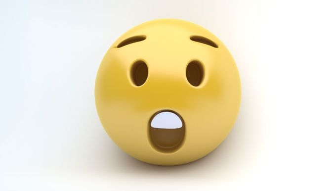 emoji surprised 3d model max obj mtl 3ds fbx 1