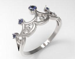 3D print model Ring Big Crown STL