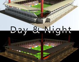 3D model Stadium Level 3 Day-Night