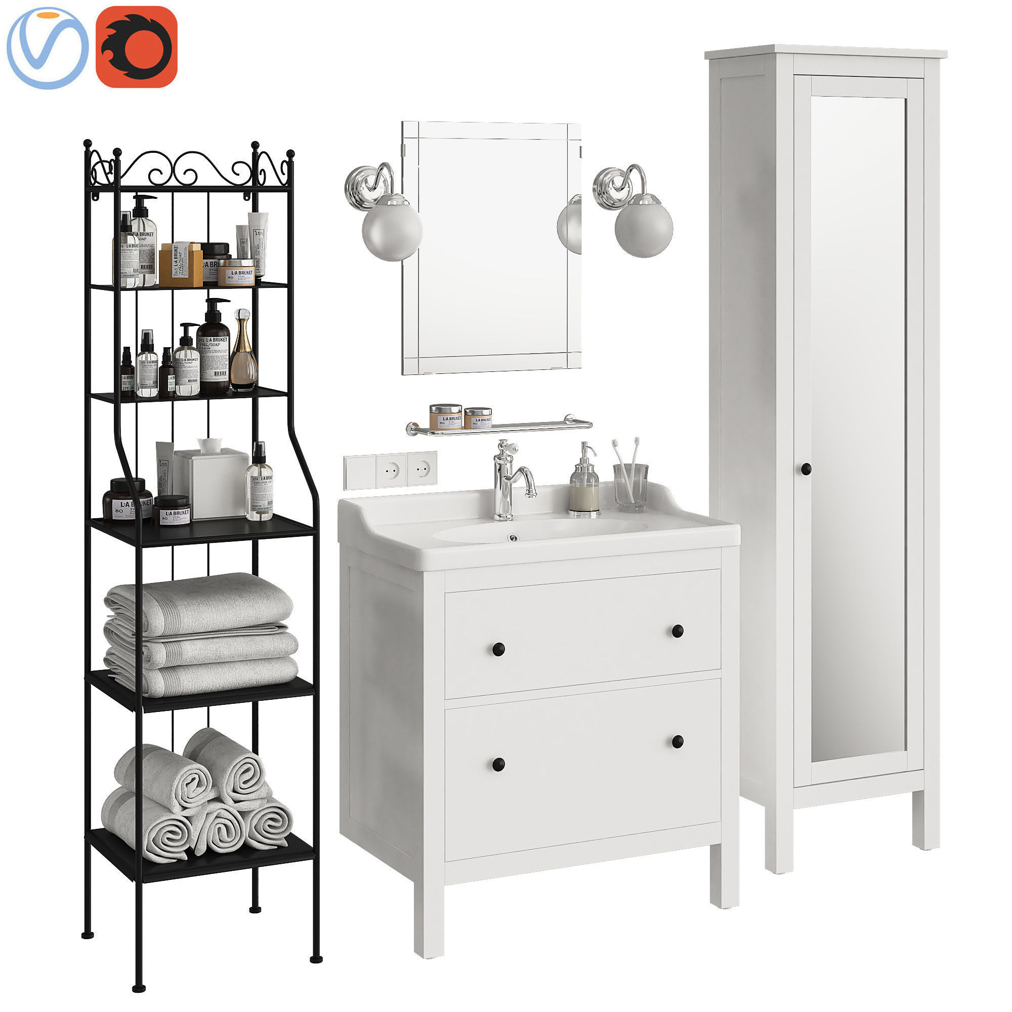 online retailer 5ee07 37990 Ikea Hemnes bathroom | 3D model