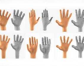 Hands Basemesh Collection 3D Models