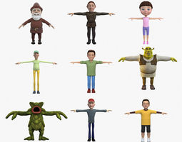 3D Cartoon Characters Collection