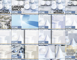 Marble White Collection JPG and MAT 3D model