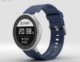 Huawei Fit Silver with Blue Band 3D model