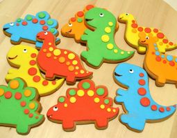 Cute dinosaurs cookie cutters for 3D-printing raptor