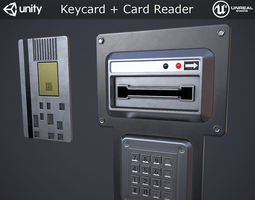 3D model Keycard and Card Reader