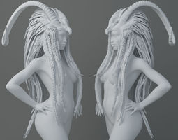 HD Horns headdress girl 011 3D printable model