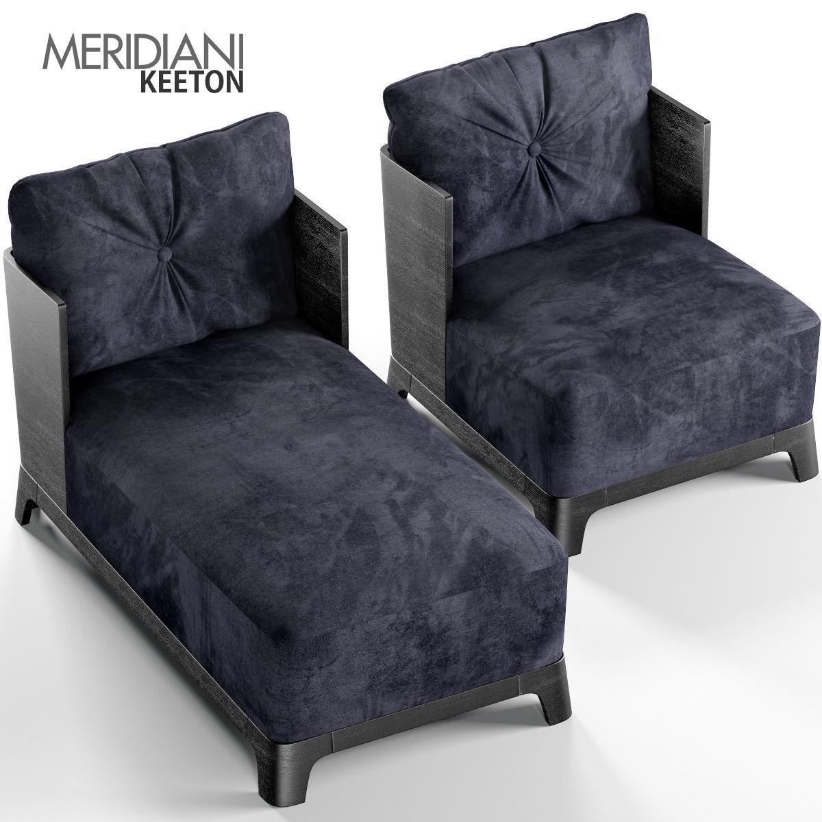 Bon Keeton Armchair And Chaise Longue 3d Model Max Obj Mtl 1 ...