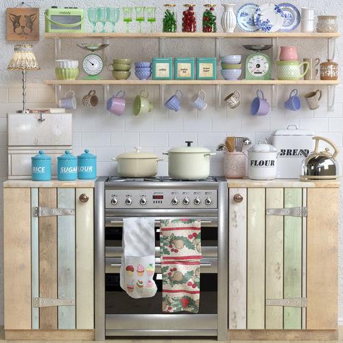 kitchen  3d model max obj mtl 1