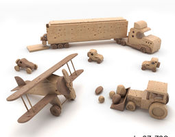 3D Toys made of wood
