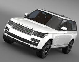 range rover autobiography lwb l405 2014 3d model