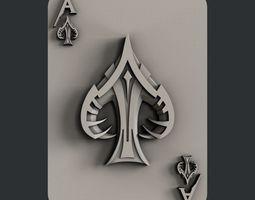 artcam 3d STL models for CNC ace of spades