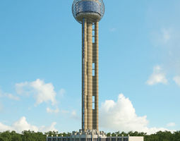 3D Reunion Tower
