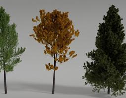 Generic Realistic Tree Set 3D model