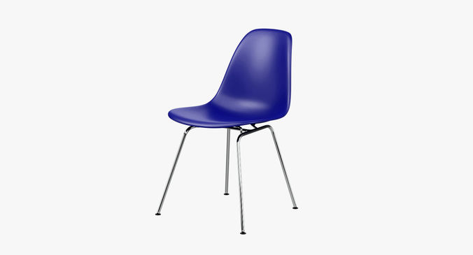photorealistic eames plastic side chair dsx 3d model obj mtl fbx blend 1