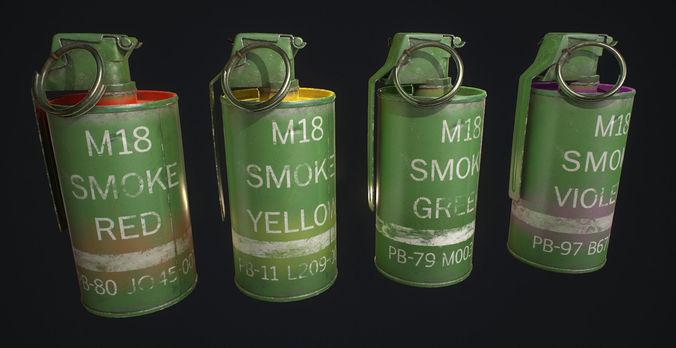 M18 Smoke Grenade | 3D model