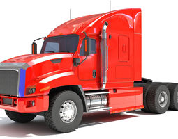 3D American Freightliner Truck